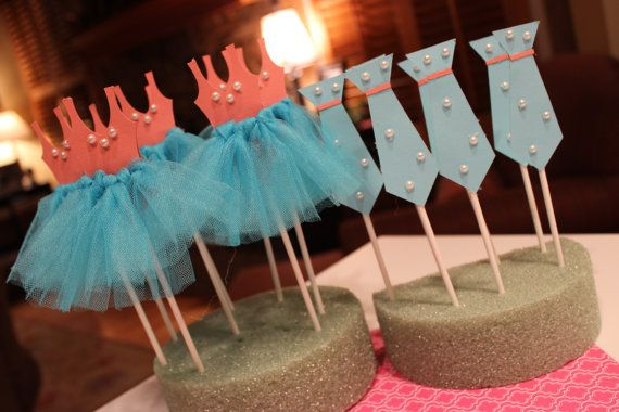 Custom Ties OR/AND Tutus Gender Reveal by CharmingTouchParties, $28.00