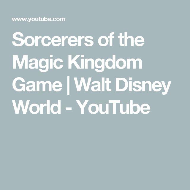 Sorcerers of the Magic Kingdom Game   Walt Disney World - YouTube
