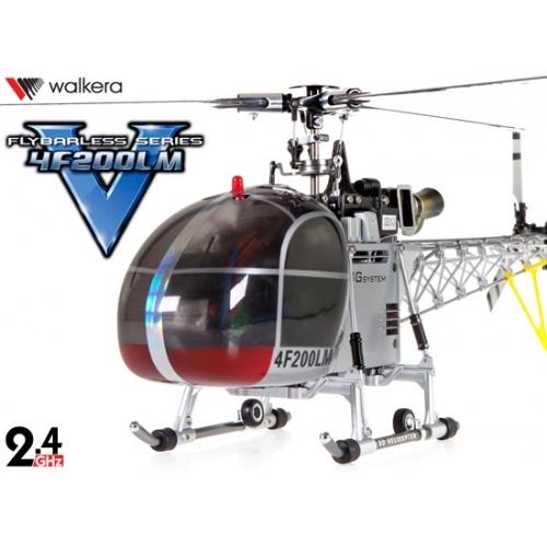 Walkera HM 4F200LM Helicopter W/ DEVO7 TX SLIVER COLOR (2.4Ghz Sliver Value Edition)