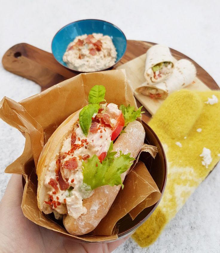 Kyllingsalat med bacon, fetaost og hint av taco (påleggssalat)