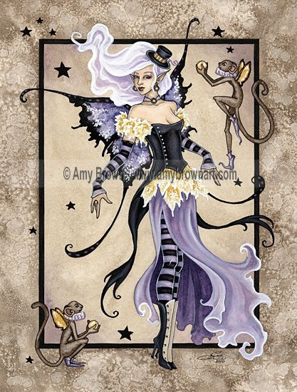 Amy Brown: Fairy Art - The Official Gallery - Fiona's Fabulous Flying Monkeys