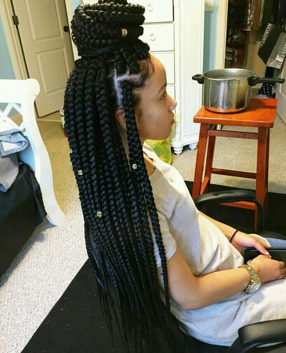 Medium Box Braids: