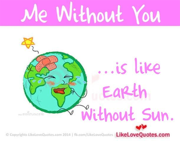 Me Without You is like Earth without Sun.