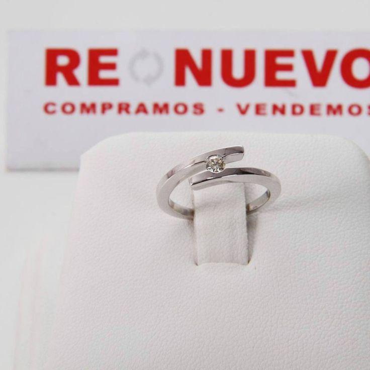 Comprar Anillo de compromiso de oro blanco con diamante E294659B   Tienda online de segunda mano