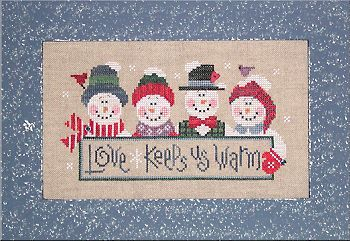 Snowmen Cross Stitch  Lizzie and Kate - adorable patterns