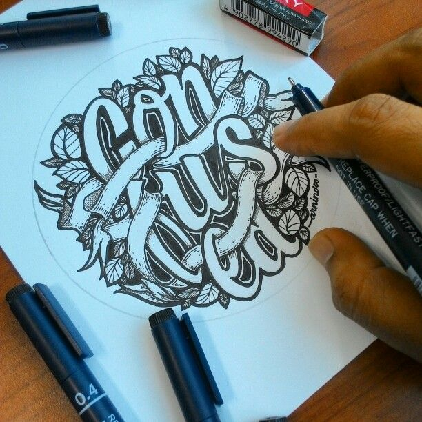 confused handlettering by artnindo