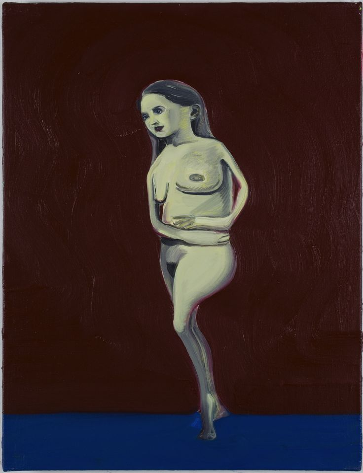 DAN COOMBS - Nude (2) - oil on canvas 60 x 45 cm
