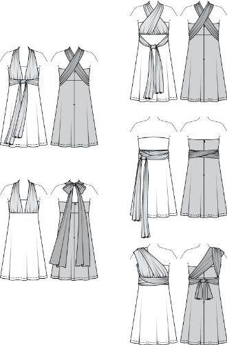 Burda B7352 Patron de Couture Robe 19 x 13 cm: Amazon.fr: Cuisine & Maison
