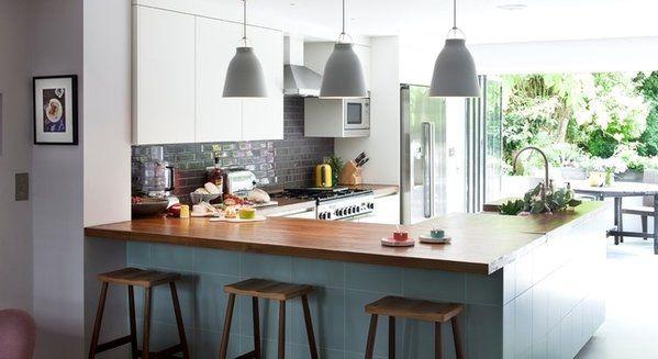 U-keukens: Veel ruimte en veel oppervlakte - Een open schiereiland