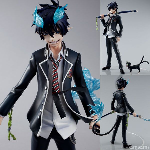 its a figure. and its rin. and anime and blue fire and ~~~~~~~