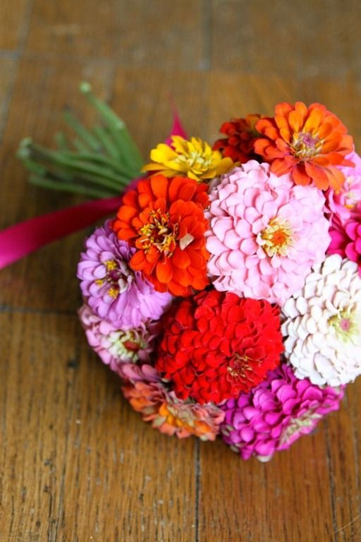 zinnia bouquet grown and designed by the talented @Emily Schoenfeld walters!