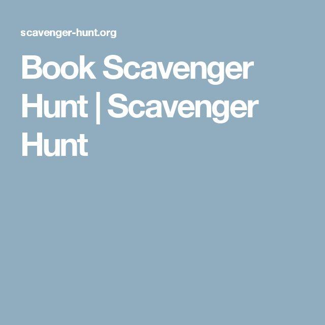 Book Scavenger Hunt | Scavenger Hunt