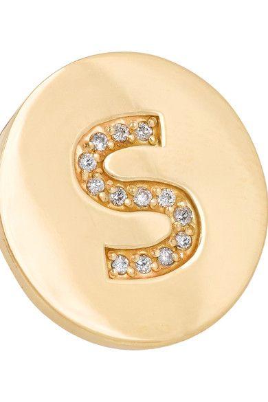 Jennifer Meyer - Letter 18-karat Gold Diamond Ring - E 6