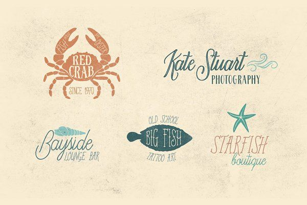 Old Harbour vintage font collection - Script