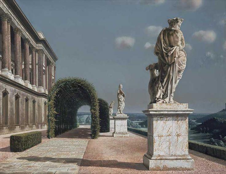 Terras met pergola 1951 carel willink kunst realisme meta realisme pinterest terrace - Pergola met intrekbaar canvas ...