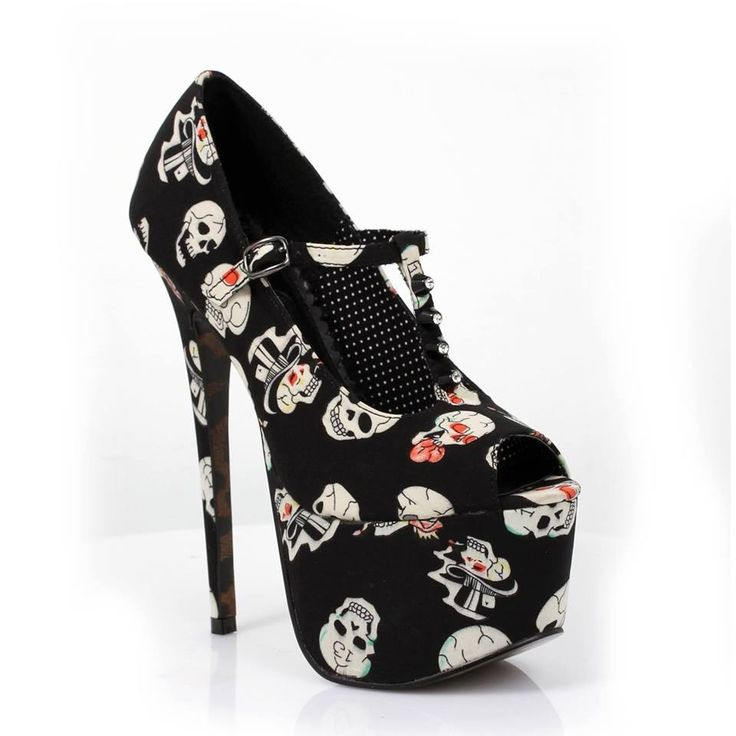 awesome skull high heels boots and shoes