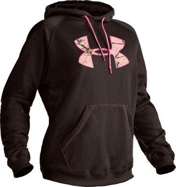 black hoodie with pink realtree logo