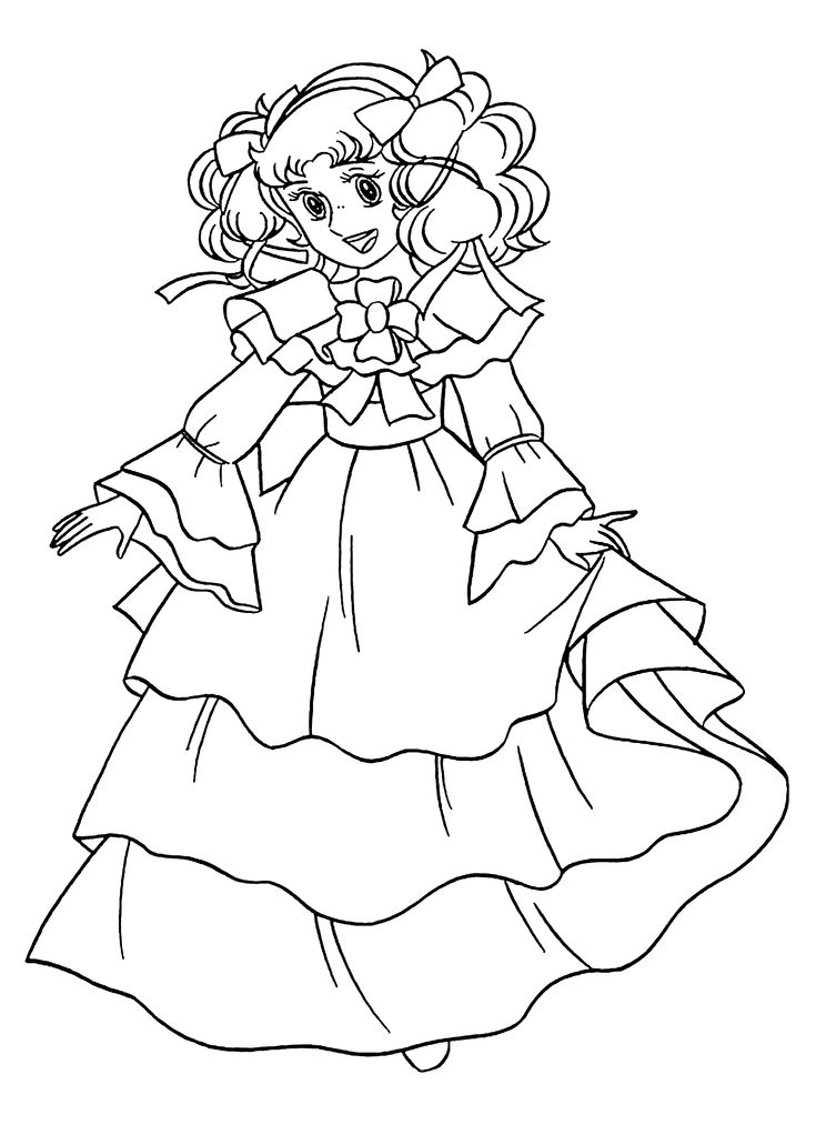 Nice Candy Candy anime coloring pages for kids, printable ...