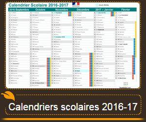 Vacances scolaires calendrier scolaire 2016-17 à imprimer.