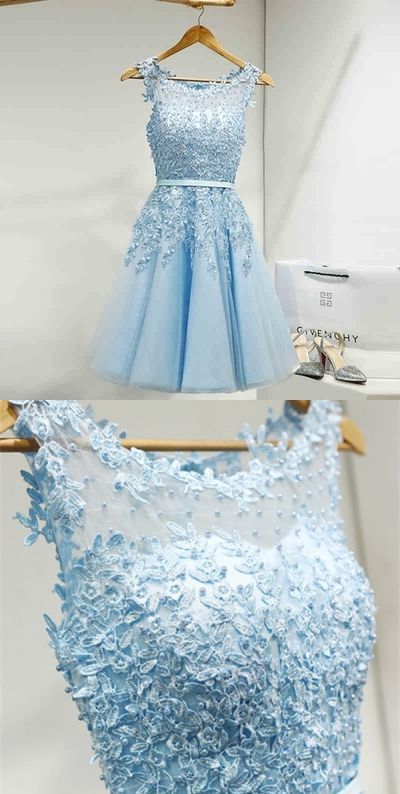 Blue Homecoming Dresses,Cute Homecoming Dresses