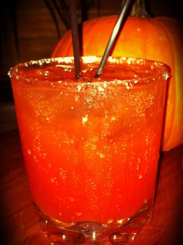 VAMPIRE'S KISS: Grab the squad and whip up these drinks to watch all your favorite vampires movies and TV shows this fall! You'll need vodka, gin, and tomato juice to make this delish cocktail!