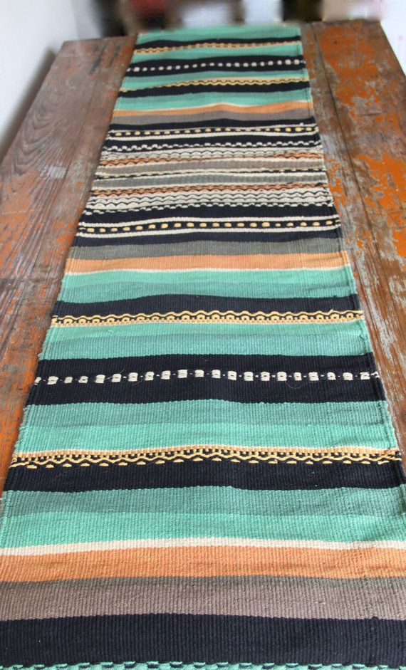 Vintage Southwestern Table Runner 1970's by GeronimosCollection
