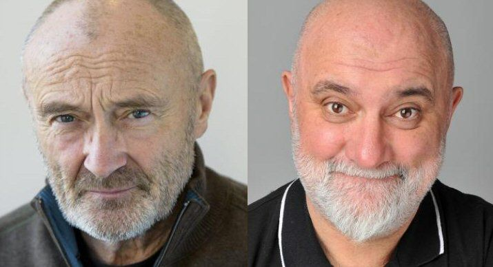 Is it me, or is Alexei Sayle (R) starting to look like Phil Collins (L)?