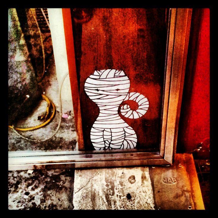 my first #sticker Raval Ancona #Italy #wheatpaste #streetart