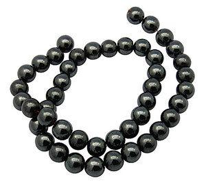 Hematit pärlor, 8mm - Millefiori - Pärlor och smyckestillbehör för din smyckestillverkning.