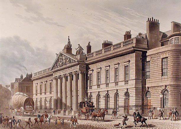 The expanded East India House, Leadenhall Street, London, as reconstructed in 1796–1800