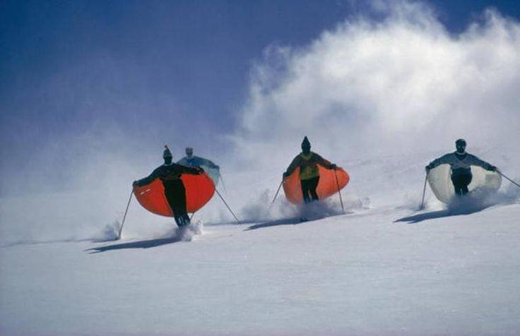 Caped Skiers (Slim Aarons Estate Print) 1