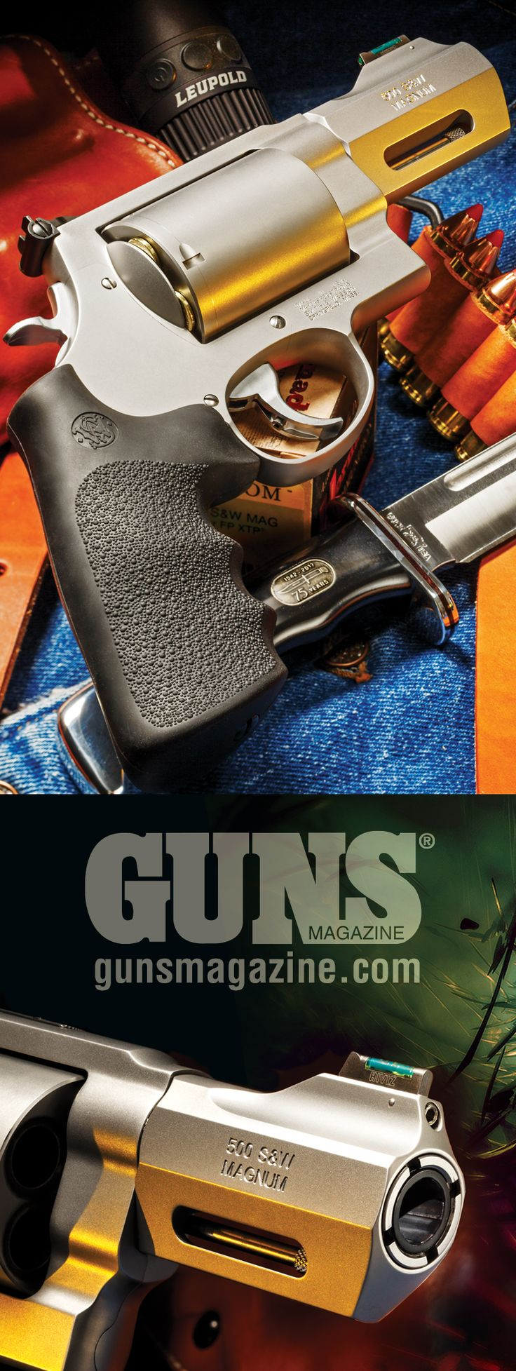 Big Bad Belly Gun   By Mark Hampton   Smith & Wesson Redefines CCW With The X-Frame .500 S&W For Defense Against, Well … Anything  At first glance, the .500 S&W Magnum appears to be a huge revolver cartridge—and it is compared to the popular .44 Mag and lesser rounds. The S&W 500 revolver based on the company's massive X-Frame model is an impressive looking beast.   © GUNS Magazine 2017