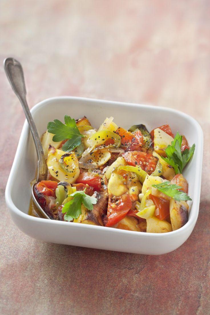 Pommes de terre au four tomate oignons