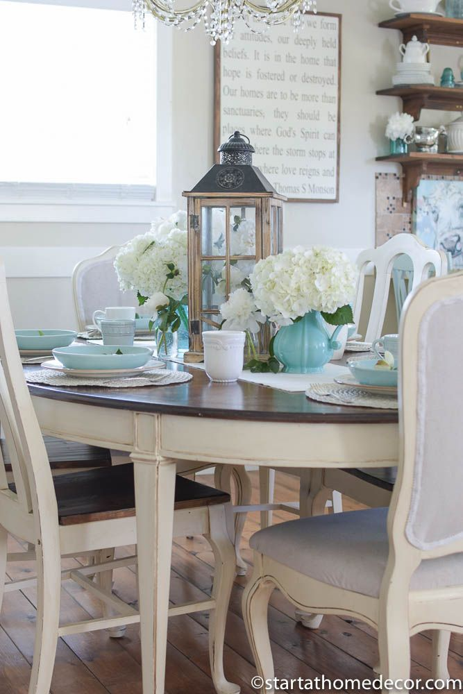 How To Create The Perfect Summer Tablescape Dining Room Simple Lantern Table Decor Lantern Dining Room Centerpiece