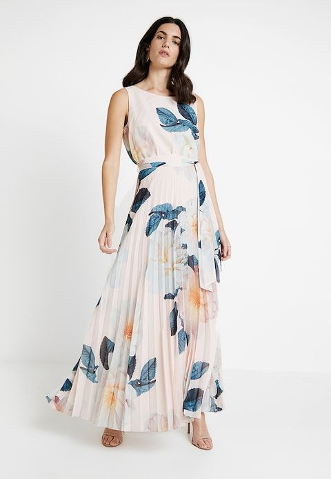 0b3875e64de Wallis SPRING BLOOM PLEAT SKIRT MAXI - Maxi dress - blush - Zalando.co.