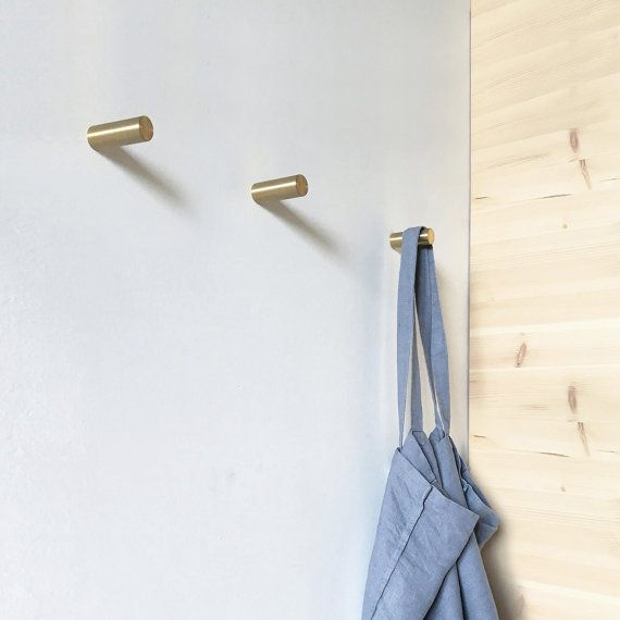 brass wall hook by officina rovereto via etsy - Clothes Wall Hanger