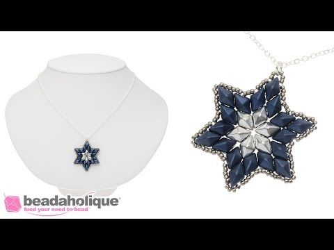 How to Bead Weave a Star Using Czech Glass 2-Hole DiamonDuos and Seed Beads - YouTube