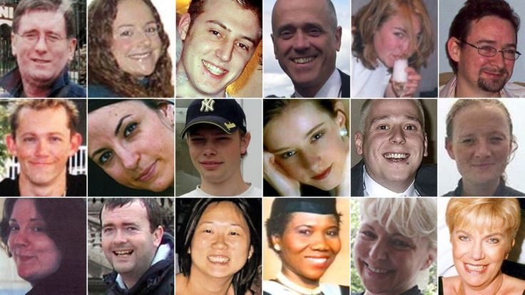The 52 people who lost their lives in the 7 July 2005 London bombings.