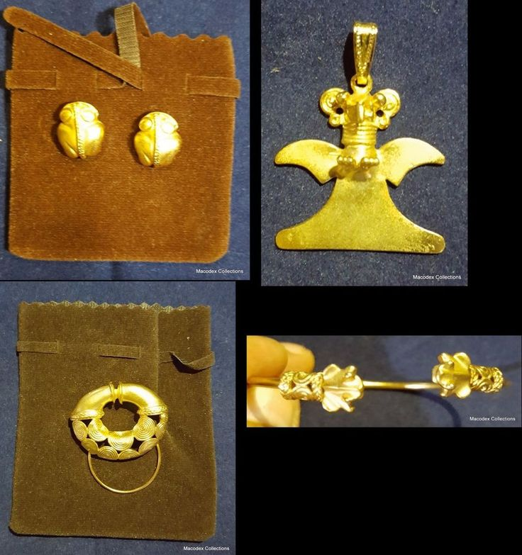 Beautiful Pre-columbian Jewelry Lot of (4), made in alloying with no iron #2