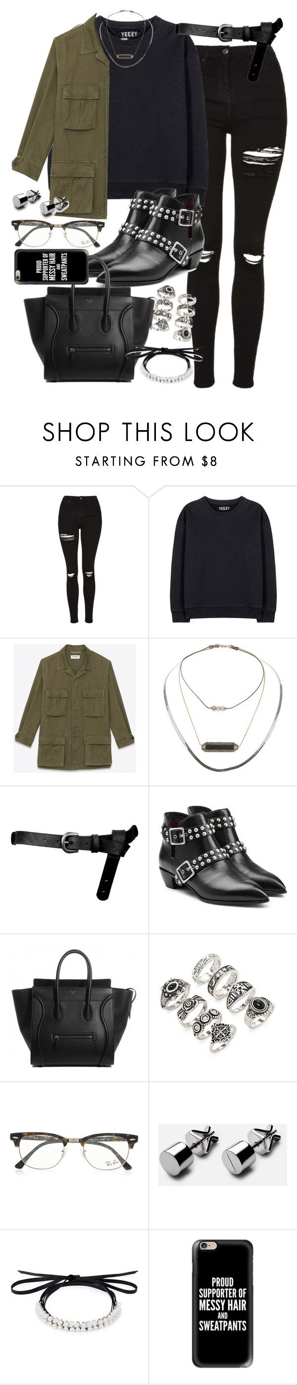 """Outfit for university with a tote bag"" by ferned ❤ liked on Polyvore featuring Topshop, adidas Originals, Yves Saint Laurent, ASOS, Marc by Marc Jacobs, Forever 21, Ray-Ban, Fallon and Casetify"