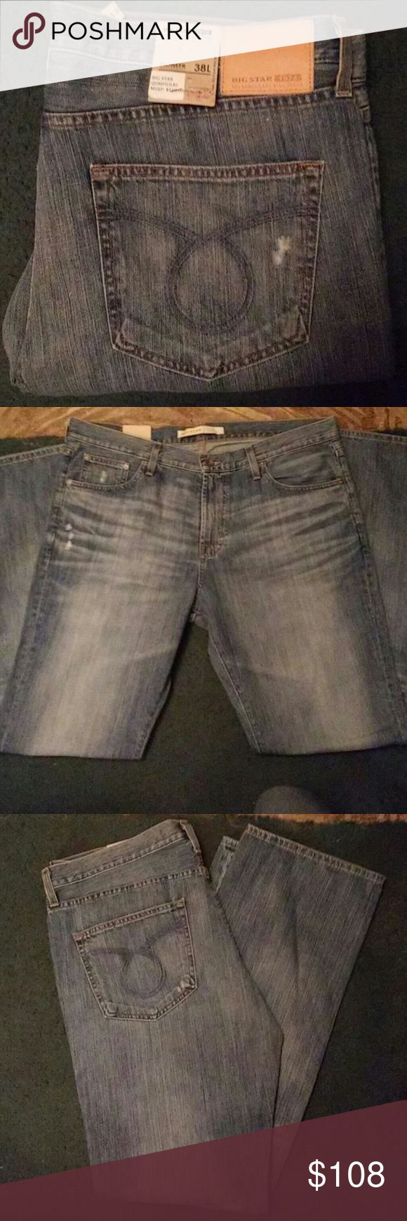 Big Star Jeans for men Brand New Big Star QUMPIOLKI Jeans for Men with tags. Its a Pioneer regular Boot with a size 38L. Its a light blue denim. No flaws what so ever. Dont be afraid to make a offer Big Star Jeans Bootcut