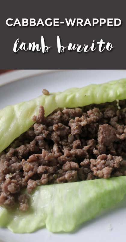 delicious and easy healthy lamb burrito recipe. great use of ground lamb.