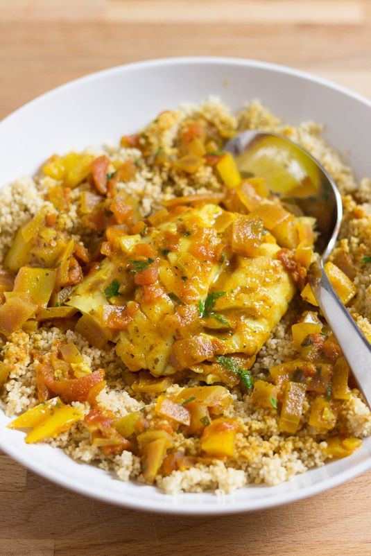 Cod with Moroccan Tomato Sauce