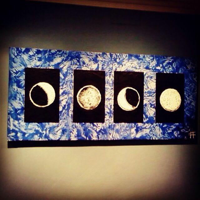 Fases lunares , acrílico sobre lienzo 50x100