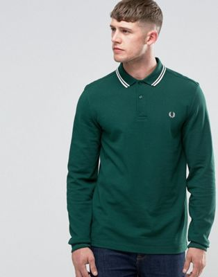 Fred Perry - Polo à manches longues - Lierre