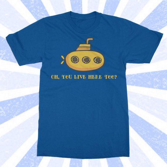 The Beatles Shirt - Yellow Submarine Tshirt - Band Shirt - John Lennon - Funny T-Shirt  - Women's and Men's Short Sleeve S-M-L-XL-2X-3X-4X