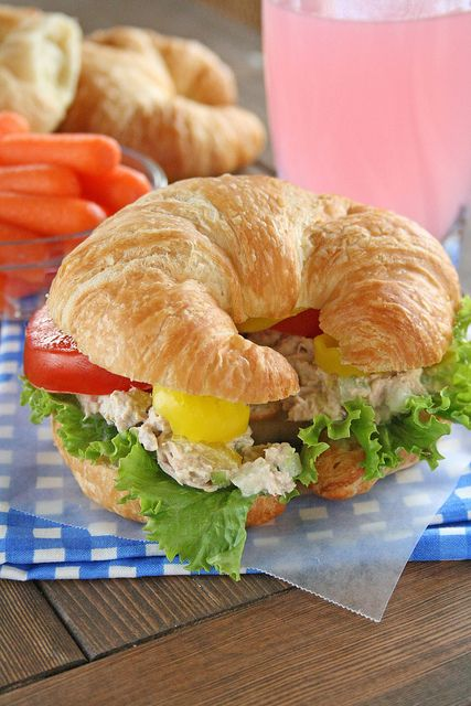 The Best Tuna Fish Sandwich. This is the best way to make any sandwich...on a croissant.
