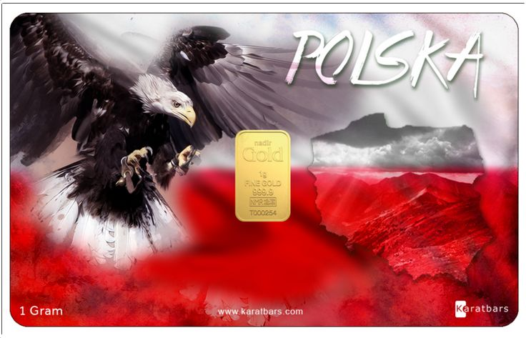 """New Edition to the Country Cards Karatbars International has now extended our """"Country Card"""" list with the uniquely designed """"POLSKA"""" card. The Card is designed in such a way that the classic Polish colors are highlighted around our 1 gram unit of gold """"The one true currency of the world"""". Get yours today and add another one of a kind Karatbars card to your collection. $59.96"""