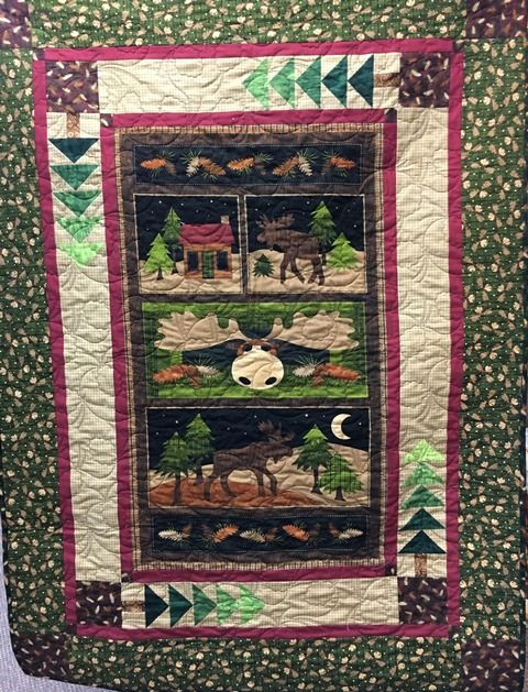 Theres A Moose On The Loose At Great Benartex Fabric For Nice QuiltSmall