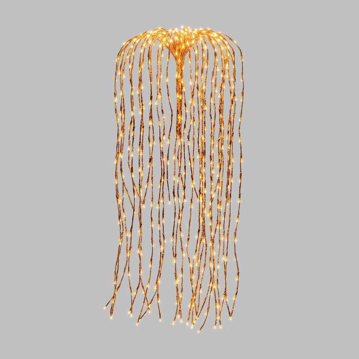 Branches lumineuses saule pleureur à suspendre – H. 120 cm – Cuivré